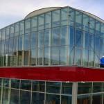 Mycie szklanej fasady budynku, woj. śląskie