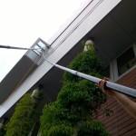 Mycie trudno dostępnych okien woda zdemineralizowaną przy pomocy tyczek karbonowych, woj. śląskie
