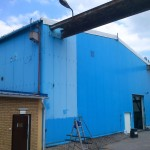 Mycie ścian hali produkcyjnej, woj. śląskie