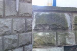 Czyszczenie piaskowca metoda JOS - piaskowanie w osłonie mgły wodnej