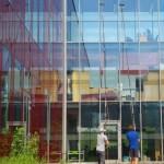 Mycie fasady szklanej biurowca, woj. śląskie